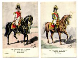 Les Uniformes Du Ier Empire ,La Famille Impériale 11ème Série Illustrateur E-L BUCQUOY N°1à 8 Complet - Personaggi