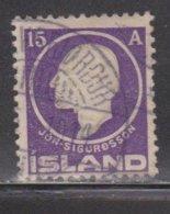 ICELAND Scott # 90 Used - Jon Sigurdsson - Used Stamps