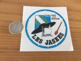 AUTOCOLLANT, Sticker «LES JASEES - CHALONS SUR MARNE (51)» (musique, Folklore, Blason) - Pegatinas