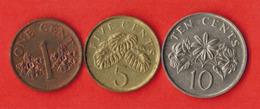 Singapore 3 Coins Set 1989-2015 - Singapur