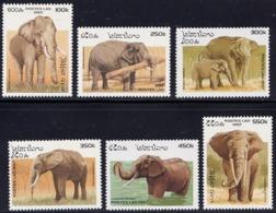 Série De 6 TP Neufs ** N° 1275/1280(Yvert) Laos 1997 - Eléphants, Voir Description - Laos