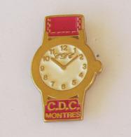 1 Pin's MONTRE C.D.C. Signé VALDHOR FRANCE - Marques