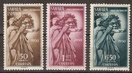 Sahara 083/85 * Pastor. 1950. Charnela - Sahara Spagnolo