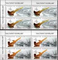 2011 Turkey - Sultans Boats Set III / Prunkboote Der Sultane (III)- Blocks Of 4 Corners - MNH** MI 3922/23 - 1921-... Republic