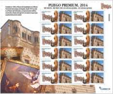 2014 Spain Museums - Museum Of Gaudalajara - Sheetlet Of 12 V - Paper - MNH** Mi 4872 - 1931-Heute: 2. Rep. - ... Juan Carlos I