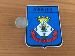 AUTOCOLLANT, Sticker «ARGELES (66)» (blason) - Autocollants