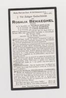 DOODSPRENTJE BEHAEGHEL ROSALIA WEDUWE DEPLACIE - KERKHOF - DEMAREY STEENWERCK (FR) ELVERDINGE (1827 - 1926) - Images Religieuses