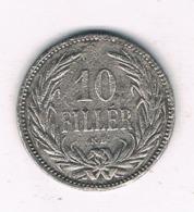 10 FILLER 1893 HONGARIJE /6694/ - Hongrie