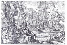 AK-div.27- 101-4 - Raubstaat England - Eine Spanische Silberflotte Wird Von Englischen Piraten Geplündert - Géographie