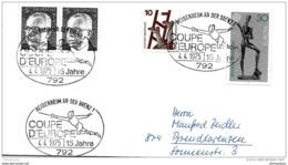 """48-34 - Enveloppe Allemande Avec Oblit Spéciale """"thème Escrime Coupe D'Europe 1975"""" - Escrime"""
