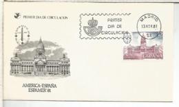ESPAÑA SPD 1981 AMERICA ESPAÑA CAPITOLIO BUENOS AIRES - Monumentos