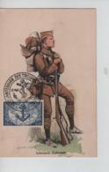 PR7170/ TP 889 Infanterie Coloniale S/Carte Maximum 1951 C.Cinquantenaire Troupes Coloniales - Maximum Cards