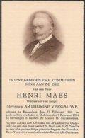 DP. HENRI MAES ° KNESSELARE 1868- + OEDELEM 1934 - Religion & Esotérisme
