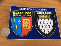 CPM AUTOCOLLANT, Sticker «BELLE-ISLE (56) - BRETAGNE» (blason) - Autocollants