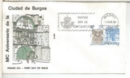 ESPAÑA SPD 1984 MC AÑOS DE LA CIUDAD DE BURGOS ARQUITECTURA - Monumentos