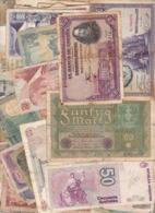 LOT DE 104 BILLETS DU MONDE / USAGES ET NON TRIES - Monnaies & Billets