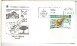 ESPAÑA SPD 1982 DIA DEL SELLO STAMP DAY CANARIAS TENERIFE VOLCAN TEIDE VOLCANO - Volcanes