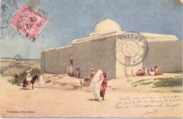 Seltene Alte AK  TUNIS / Tunesien   - Tombeau D'un Saint - Gelaufen 1905 - Tunisia
