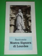 N.S.di LOURDES - Santuario Colle S.Leonardo In VERONA - Santino Cm.15 X 8,5 - Santini