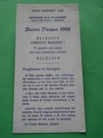 Anno Mariano 1988 BUONA PASQUA/N.S.di LOURDES Santuario Colle S.Leonardo VERONA Cm.18 X 9 - Santini