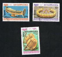 CAMBODIA (KAMPUCHEA)   - SG 568.569 -    1984 MUSICAL INSTRUMENTS         - USED ° - Kampuchea
