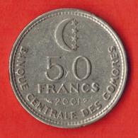 Comoros 50 Francs, 2001 - Comoros
