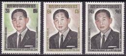 Série De 3 TP Neufs ** N° 335/337(Yvert) Khmère 1973 - Président Maréchal Lom Nol - Kampuchea