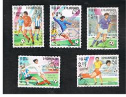 CAMBODIA (KAMPUCHEA)   - SG 590.594 -    1985  WORLD CUP FOOTBALL         - USED ° - Kampuchea