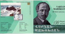 Armenien/Armenie/Armenia 2019, 150th Anniv. Of Vartan Mahokian (1869-1937, Marine Art, Silver Coin In Booklet - PROOF - Armenië