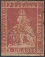Toscana II Em. 1 Crazia Carminio N.12 Nuovo MH * Certificato Oliva Cv 24.000 - Toscana