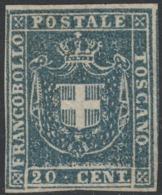 Toscana Governo, 20 Cent Azzurro N.20 Nuovo Sg (*) Perfetto Cv 7000 - Toscana
