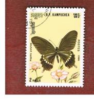 CAMBODIA (KAMPUCHEA)   - SG 732  -    1986  BUTTERFLIES: COMMON MORMON        - USED ° - Kampuchea