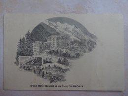 CPA CHAMONIX Grand Hotel Couttet - Chamonix-Mont-Blanc