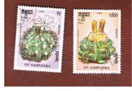 CAMBODIA (KAMPUCHEA)   - SG 760.761   -    1986   CACTI       - USED ° - Kampuchea