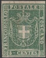 Toscana Governo, 5 Cent Verde N.17 Nuovo Sg (*) Perfetto Cv 8000 - Toscana