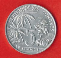 Comoros 5 Francs, 1992 - Comoros
