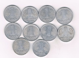 1 MARK LOT DDR DUITSLAND /6706/ - [ 6] 1949-1990 : GDR - German Dem. Rep.