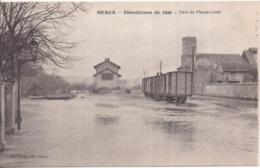 77 MEAUX - Inondations De 1920 - Gare De Meaux-Local - Ligne Du Tramway à Vapeur De Dammartin - Meaux