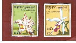 CAMBODIA (KAMPUCHEA)   - SG 930.933   -    1988  ORCHIDS      - USED ° - Kampuchea