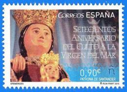 España. Spain. 2015. Virgen Del Mar. Patrona De Santander - 1931-Heute: 2. Rep. - ... Juan Carlos I
