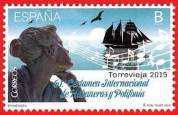 España. Spain. 2015. Certamen Internacional De Habaneras Y Polifonia. Torrevieja - 1931-Hoy: 2ª República - ... Juan Carlos I