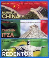 España. Spain. 2015. Maravillas Del Mundo Moderno. Muralla China. Chichen Itza. Cristo Redentor - 1931-Hoy: 2ª República - ... Juan Carlos I