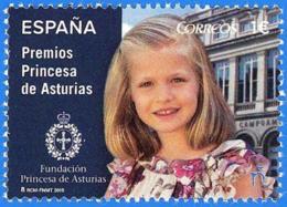 España. Spain. 2015. Premios Princesa De Asturias. Infanta Leonor - 1931-Hoy: 2ª República - ... Juan Carlos I