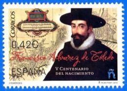 España. Spain. 2015. V Centenario De Francisco Alvarez De Toledo - 1931-Hoy: 2ª República - ... Juan Carlos I