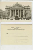 Bruxelles: La Bourse. Carte Postale Cm 9x14 (début 1900) - Animée, Tram.... - Monuments