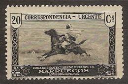 Marruecos 118 ** Cartero A Caballo. 1928 - Marruecos Español
