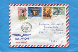 MARCOPHILIE- Lettre BURKINA FASO>Françe-cad 1989 -4- Stamps N°.789 Oiseau-martin Pêcheur+777+masque+784 - Burkina Faso (1984-...)