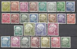 Q572-2 SERIES COMPLETAS ALEMANIA FEDERAL 1953 62A/72B+125A/128B 37,50€ PRESIDENTE THEDORE HEUSS.BUENOS EJEMPLARES,M - [7] República Federal