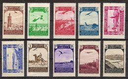 Marruecos 186/195 * Paisajes. 1938. Charnela - Marruecos Español