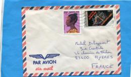 MARCOPHILIE- Lettre BURKINA FASO>Françe-cad 1989 -2 Stamps N°.723 Coiffure Dafong+lutte Apartheid - Burkina Faso (1984-...)
